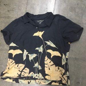 Tori Richard 100% silk shirt XL Blouse